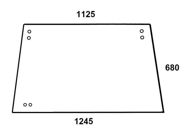 Heckscheibe für SEK Kabine Deutz Serie 07C 04340309